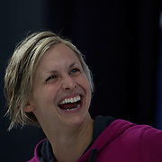 Libby Trickett after winning the 50m Freestyle during the Australian Swimming Championships and Selection Trials for the XIII Fina World Championships held at Sydney Olympic Park Aquatic Centre, Sydney, Australia on March 21, 2009. Photo Tim Clayton