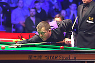Mark Allen during the Ladbrokes Players Snooker Championship at Event City, Manchester, United Kingdom on 27 March 2016. Photo by Pete Burns.