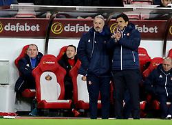 Sunderland manager Chris Coleman gestures on the touchline