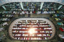 June 26, 2017 - Dhaka, Bangladesh - Bangladeshi Muslims offer Eid al-Fitr prayer at Baitul Mukarram National mosque in Dhaka, Bangladesh. (Credit Image: © Suvra Kanti Das via ZUMA Wire)
