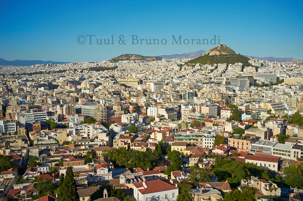 Grece, Attique, Athenes, vue generale et la colline de Lycabette // Greece, Attica, Athens, general view with the Lycabettus Hill