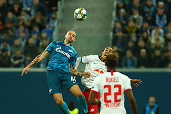 November 5, 2019, St. Petersburg, Russia: Russian Federation. Saint-Petersburg. Gazprom Arena. Football. UEFA Champions League. Group G. round 4. Football club Zenit - Football Club RB Leipzig. Player of Zenit football club Yaroslav Rakitsky  (Credit Image: © Russian Look via ZUMA Wire)