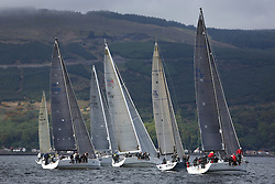 25th Anniversary of Kip Regatta<br /> <br /> - Yachting<br /> <br /> Class 1 Start with three Commodores Cup Teams, Jamie McGarry and Colin Moore on Eala of Rhu ( GBR 7745 ); Rod Stuart on Aurora ( GBR 7737 ) and Steven Cowie on Zephyr ( GBR 8140C )