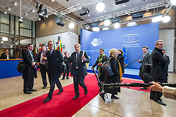 Jean-Claude Juncker, Luxembourg's prime minister, gestures to the media, declining comment, as he departs the European Council headquarters, following the conclusion of the EU Summit, in Brussels, Belgium on Friday, Dec. 14, 2012. (Photo © Jock Fistick)