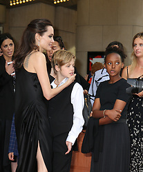 September 12, 2017 - Toronto, Canada - ANGELINA JOLIE WITH HER DAUGHTERS SHILOH AND ZAHARA - RED CARPET OF THE FILM 'FIRST THEY KILLED MY FATHER' - 42ND TORONTO INTERNATIONAL FILM FESTIVAL 2017 (Credit Image: © Visual via ZUMA Press)