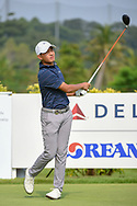 Lloyd Jefferson GO (PHI) watches his tee shot on 3 during Rd 3 of the Asia-Pacific Amateur Championship, Sentosa Golf Club, Singapore. 10/6/2018.<br /> Picture: Golffile   Ken Murray<br /> <br /> <br /> All photo usage must carry mandatory copyright credit (© Golffile   Ken Murray)
