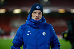 LIVERPOOL, ENGLAND - Thursday, March 4, 2021: Chelsea's manager Thomas Tuchel is interviewed after the FA Premier League match between Liverpool FC and Chelsea FC at Anfield. Chelsea won 1-0 condemning Liverpool to their fifth consecutive home defeat for the first time in the club's history. (Pic by David Rawcliffe/Propaganda)