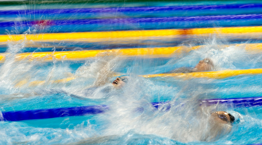 Rachel Lefley is competing in the Womens Open 100m Backstroke - Semi Final, during the British Gas Swimming Championships 2012 (Selection Trials) at the Aquatics Centre in the Olympic Park, in London, 04 March 2012. BOGDAN MARAN / BPA