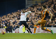 Tottenham's Danny Rose tussles with Hull's Harry Maguire during the Premier League match at White Hart Lane Stadium, London. Picture date December 14th, 2016 Pic David Klein/Sportimage