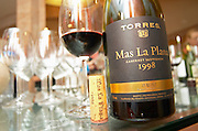 Mas La Plana 1998 with cork and glass. Torres Penedes Catalonia Spain