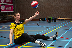 20-04-2019 NED: Dirk Kuyt Foundation Cup, Veenendaal<br /> National Cup sitting volleyball in Veenendaal / vv Apollo Mill, Chaine Verhees-Staelens #3