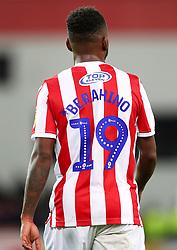 Back of Stoke City's Saido Berahino's shirt