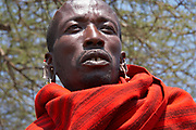 Portrait of a Maasai teacher in his tribal village near the Olduvai Gorge, Tanzania