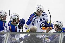 Jan Urbas, Miha Verlic (EC VSV), coach HOLST Greg during ice-hockey match between HDD Olimpija Ljubljana and EC VSV in EBEL League 2016/17, on February 19, 2017 in Hala Tivoli, Ljubljana, Slovenia. Photo by Vid Ponikvar / Sportida