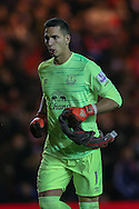Everton goalkeeper Joel Robles   during the Capital One Cup match between Middlesbrough and Everton at the Riverside Stadium, Middlesbrough, England on 1 December 2015. Photo by Simon Davies.