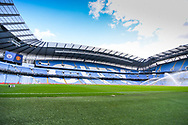 A general view of Etihad Stadium before the FA Women's Super League match between Manchester City Women and Manchester United Women at the Sport City Academy Stadium, Manchester, United Kingdom on 7 September 2019.