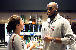 Brandon Boggs of Bristol Flyers chats with guests - Mandatory by-line: Robbie Stephenson/JMP - 12/09/2016 - BASKETBALL - Ashton Gate Stadium - Bristol, England - Bristol Flyers Sponsors Event