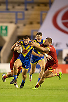 Rugby League - 2020 Super League - Round 13 - Warrington Wolves vs Catalan Dragon<br /> <br /> Warrington Wolves's Danny Walker is tackled,   at the Halliwell Jones Stadium, Warrington<br /> <br /> <br /> COLORSPORT/TERRY DONNELLY