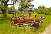 Northcentral Pennsylvania, Tractor and Mailboxes, Tioga Co., PA