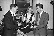 """""""Young Londoner Footwear"""" a Hanover Shoe Footwear Reception, at the Moira Hotel, Dublin..12.11.1963"""