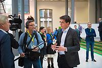 DEU, Deutschland, Germany, Berlin, 24.11.2018: Bas Eickhout, MEP, nominated by GroenLinks (The Netherlands) giving an interview. Council of the European Green Party (EGP council) at Deutsche Telekom Representative Office.