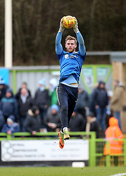 Coventry City Goalkeeper Lee Burge warms up before kick off