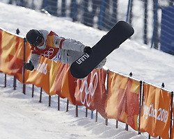 February 12, 2018 - Pyeongchang, KOREA - Arielle Gold (USA) competes in run two in the ladies halfpipe qualification during the Pyeongchang 2018 Olympic Winter Games at Phoenix Snow Park. (Credit Image: © David McIntyre via ZUMA Wire)