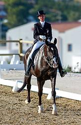 25-08-2004 GRE: Olympic Games day 13, Athens<br /> Dressuur - De ontroering en blijdschap is groot voor Anky van Grunsven NED als zij hoort dat zij opnieuw een gouden plak haalt.