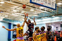Justin Gray of Bristol Flyers goes for the basket - Photo mandatory by-line: Robbie Stephenson/JMP - 10/04/2019 - BASKETBALL - UEL Sports Dock - London, England - London Lions v Bristol Flyers - British Basketball League Championship