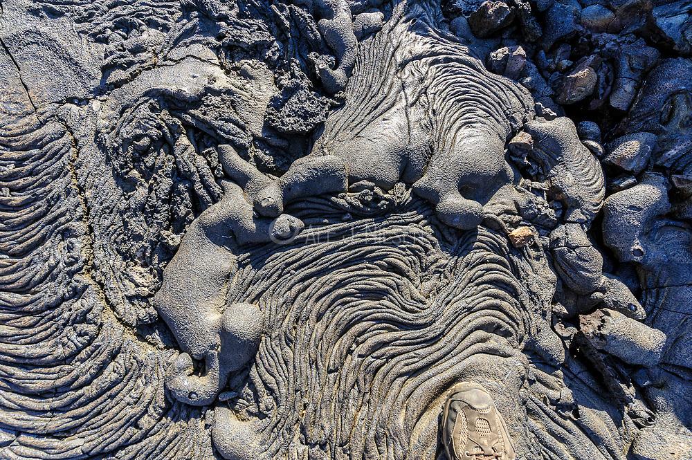 Lava formations at Santiago Island, Galapagos.