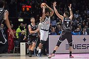 Davide Raucci<br /> Segafredo Virtus Bologna - Kontatto Fortitudo Bologna<br /> Campionato Basket LNP 2016/2017<br /> Bologna 06/01/2017<br /> Foto Ciamillo-Castoria