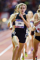 Millrose Games indoor track and field: women's mile, Mary Cain, 16 years old, sets High School American record 4:28