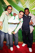 r to l: Steve Rays, Grouchy Greg, and Guest at The Tanqueray 3rd annual Style Sessions tour, making its tenth stop with a grande finale in NYC on May 29, 2008 at The Metropolitan Pavillion...Tanqueray Style Sessions is a private, invite-only affair showcasing limited edition apparel by Tanqueray?s partnering brands such as Marc Ecko, New Era, and Zero Halliburton. Responsible trendsetters, who don the culture, will experience an evening of music, art and fashion while discovering the three styles of Gin; London Dry, No. Ten and Rangpur.