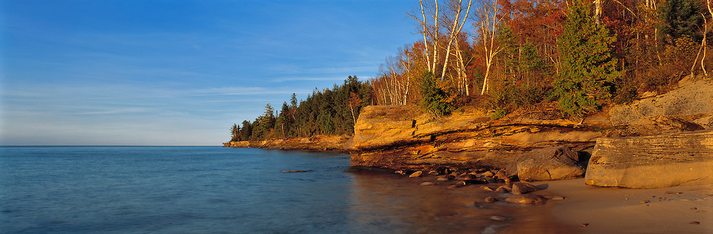 Typical shoreline along Michigan's Upper Peninsula near Munising.