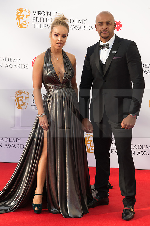 © Licensed to London News Pictures. 13/05/2018. London, UK. KATIE PIPER arrives for the Virgin TV British Academy (BAFTA) Television Awards. Photo credit: Ray Tang/LNP
