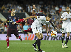 May 9, 2019 - Valencia, Valencia, Spain - Paulista of Valencia in action during UEFA Europa League football match, between Valencia and Arsenal, May 09th, in Mestalla stadium in Valencia, Spain. (Credit Image: © AFP7 via ZUMA Wire)