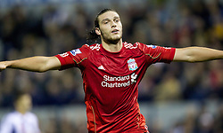 29.10.2011, The Hawthorns, West Bromwich, ENG, PL, West Bromwich Albion vs FC Liverpool, im Bild Liverpool's Andy Carroll celebrates scoring the second goal against West Bromwich Albion during the Premiership match at The Hawthorns // during the Premier League match between West Bromwich Albion vs FC Liverpool, at the Hawthorns, West Bromwich, United Kingdom on 29/10/2011. EXPA Pictures © 2011, PhotoCredit: EXPA/ Propaganda Photo/ Vegard Grott +++++ ATTENTION - OUT OF ENGLAND/GBR+++++