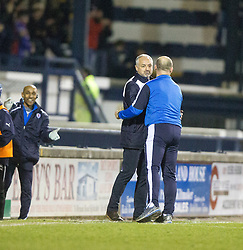 Raith Rovers Ray McKinnon at the end. <br /> Raith Rovers 2 v 1 Hibernian, Scottish Championship game player at Stark's Park, 18/3/2016.