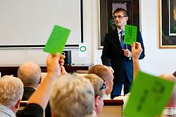 Matjaz Rakovec (predsednik HZS) na skupscini Hokejske zveze Slovenije, on September 7, 2011, in Ljubljana, Slovenia. (Photo by Matic Klansek Velej / Sportida)
