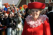 KONINGINNEDAG 2009 in Apeldoorn / Queensday 2009 in the city of Apeldoorn.<br /> <br /> Op de foto / On the Photo: Queen Beatrix