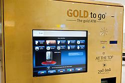 Gold to Go vending machine in Burj Khalifa in Dubai United Arab Emirates UAE