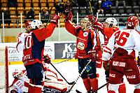 Ishockey , 16. Januar 2014, GET-Liga ,<br /> Lørenskog Ishockey - Stjernen<br /> Lars Erik Spets , Kenny Corupe og Steffen Thorsesen jubler for 4-0 , v/ Kenny Corupe<br /> Foto: Sjur Stølen , Digitalsport