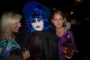 Helen, Booby Tuesday and Emma Blayney, Patti and Andy Wong  host a night of Surrealism to Celebrate the Chinese Year of the Rat. County Hall Gallery and Dali Universe. London. 27 January 2008. -DO NOT ARCHIVE-© Copyright Photograph by Dafydd Jones. 248 Clapham Rd. London SW9 0PZ. Tel 0207 820 0771. www.dafjones.com.
