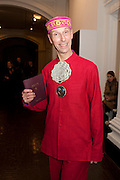 ANDREW LOGAN, THE LAUNCH OF THE KRUG HAPPINESS EXHIBITION AT THE ROYAL ACADEMY, London. 12 December 2011.