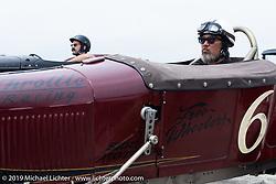 Sushi (Atsushi Yasui) in his hotrod at the starting line at TROG (The Race Of Gentlemen). Wildwood, NJ. USA. Sunday June 10, 2018. Photography ©2018 Michael Lichter.