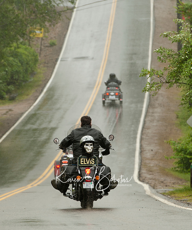 """Not quite as """"smooth"""" as ELVIS but Scenic Road to Watson Road heading north from Weirs Blvd gives motorcyclists a smoother ride after being newly paved by the city of Laconia.   (Karen Bobotas/for the Laconia Daily Sun)"""