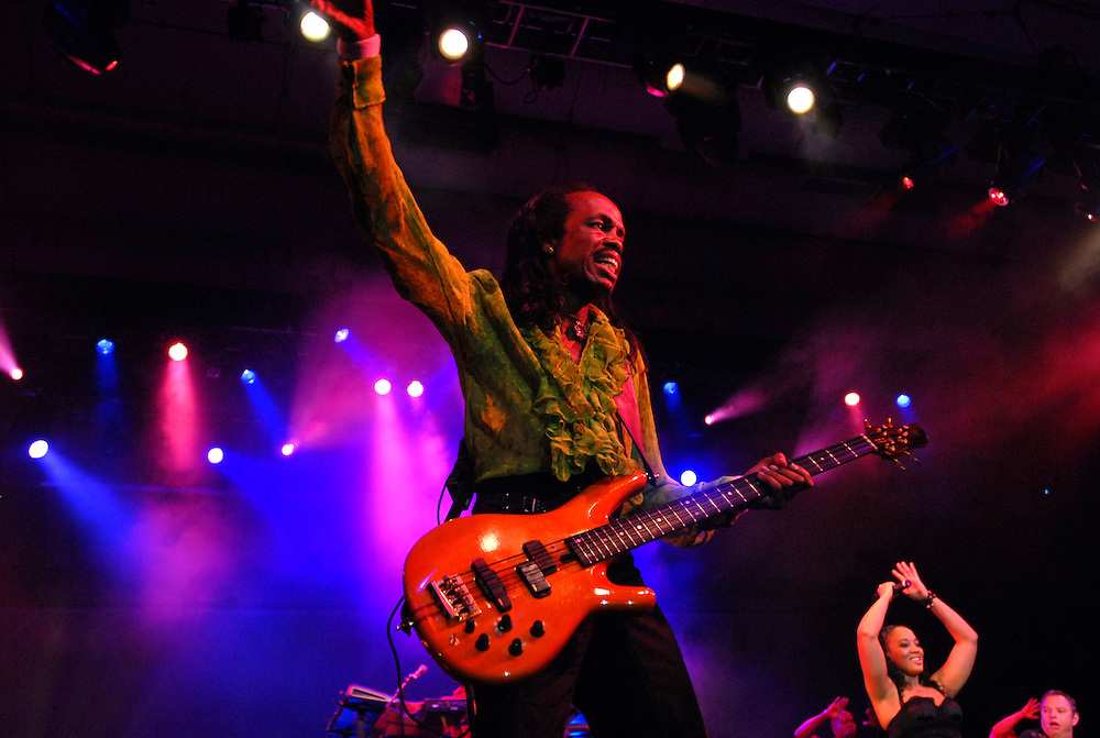 Earth Wind & Fire performs at the Moscone Center in San Francisco..Hasain Rasheed Photography.