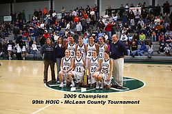 24 January 2009: 99th McLean County - Heart of Illinois Conference Tournament. El Paso - Gridley v Ridgeview Girls<br /> Championship game.