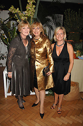 Left to right, SUE CREWE editor of House & Garden, NINA CAMPBELL and CLAIRE GERMAN publisher of House & Garden at a party to celebrate the 60th anniversary of House & Garden magazine held at Bonhams, 101 New Bond Street, London on 4th October 2007.<br />