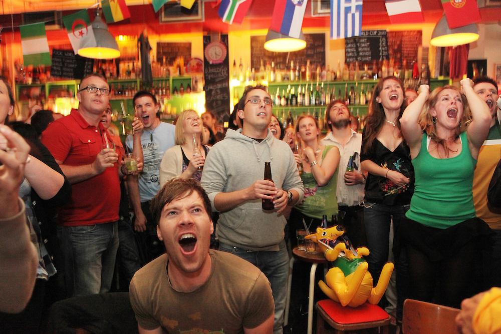 Australia v Ghana at Richmix, Shoreditch.<br /> <br /> <br /> Copyright: Jonathan GoldbergWorld Cup 2010 watched  on London TV<br /> Australia v Ghana at Bar Kick, Shoreditch